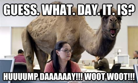 Woot Woot Meme - guess what day it is huuuump daaaaaay woot woot