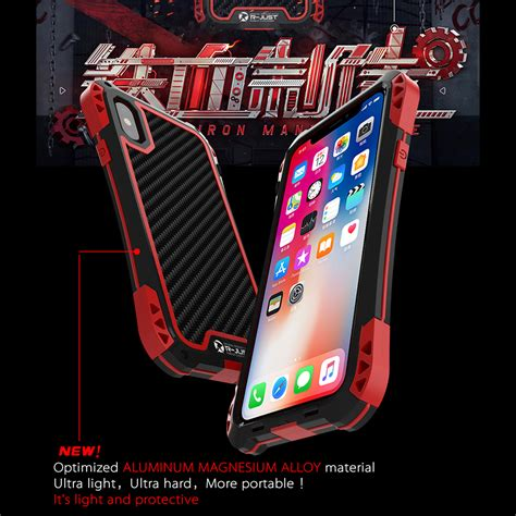 r just gorilla glass waterproof metal outdoor cover for iphone x 7 8 plus ebay
