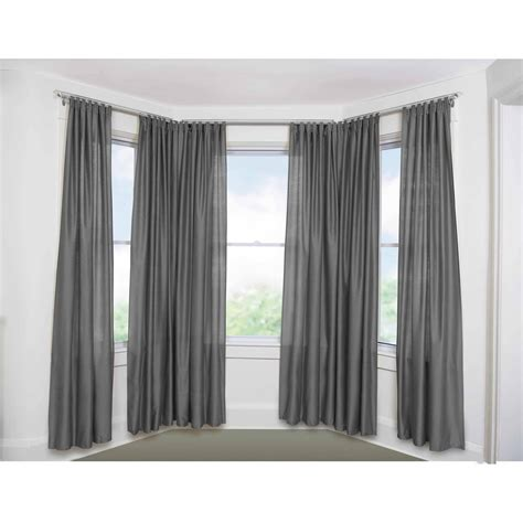 curtains rods for bay windows bow window curtain rods rooms