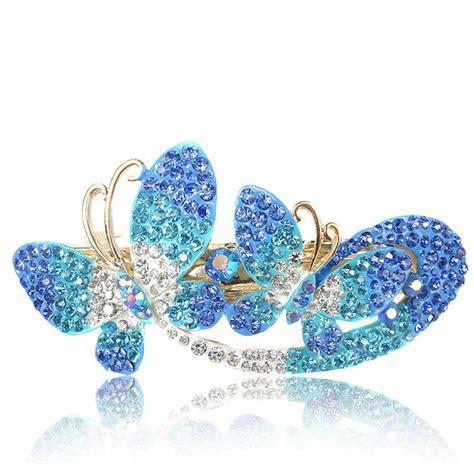 buy wholesale rhinestone butterfly hair clip