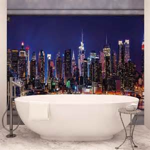 New York Skyline Wall Mural New York City Skyline Window View Wall Mural Photo
