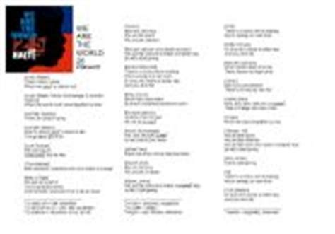 printable lyrics we are the world english teaching worksheets we are the world