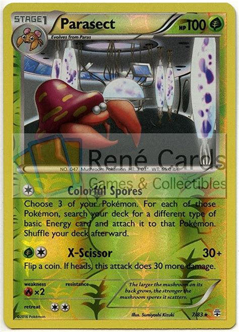 Tazos 3d Series Paras Parasect parasect generations rene s cards collectibles
