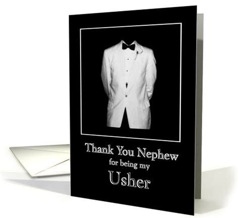 sentimental gifts for nephews thank you nephew for being my usher white tux with black 693289
