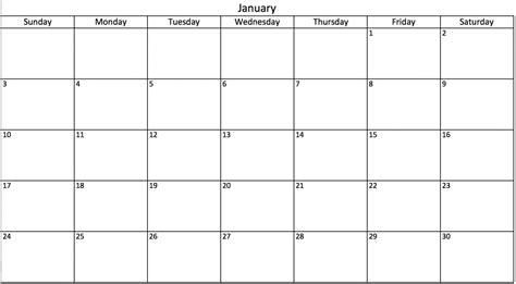 Vacation Calendar 2017 Template