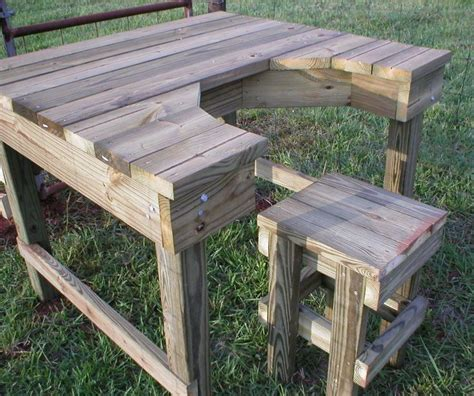 plans for a shooting bench shooting bench woodworking projects plans