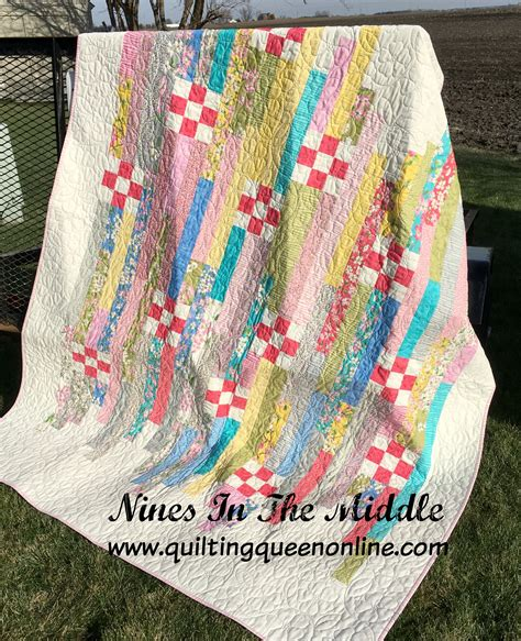 nines in the middle jelly roll quilt 171 moda bake shop