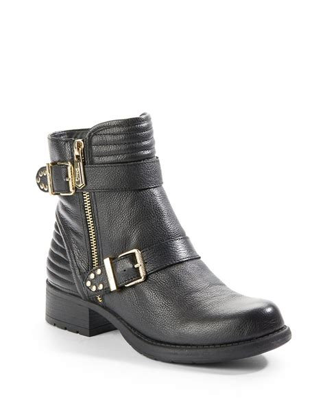 sam edelman circus sneakers lyst circus by sam edelman gemma leather moto booties in