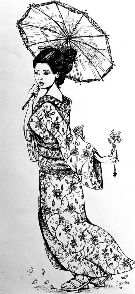 geisha umbrella tattoo geisha tattoo images designs