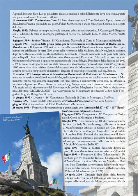 libro giornale sezionale a n a sezione di ivrea