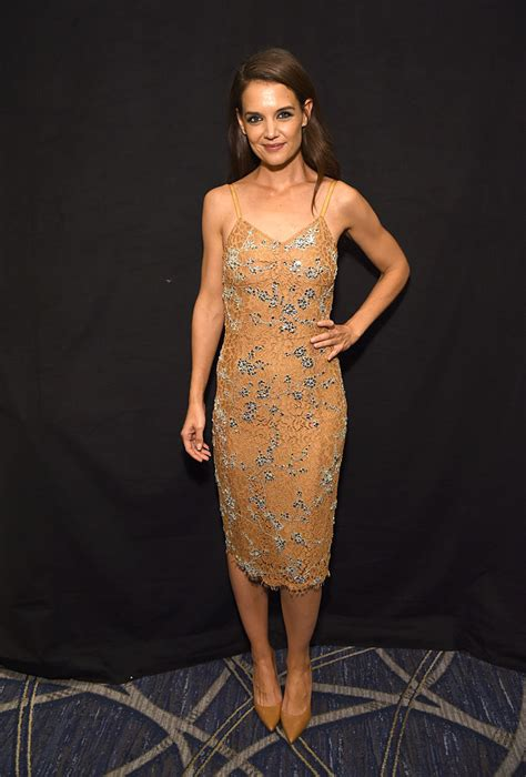katie holmes killed    nude dress  touches