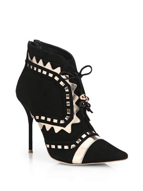 webster boots webster riko suede booties in black lyst