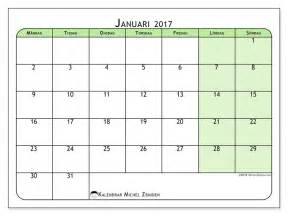 gratis kalender f 246 r januari 2017 f 246 r att skriva ut