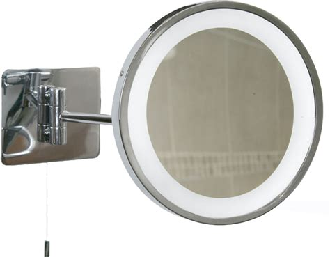 Swing Arm Bathroom Mirror Oaks Lighting Swing Arm Illuminated Bathroom Mirror Ip44 Polished Chrome M90 From Easy Lighting