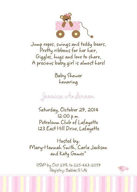 Baby Shower Invitation Card Wording by Wording For Baby Shower Invitations Theruntime