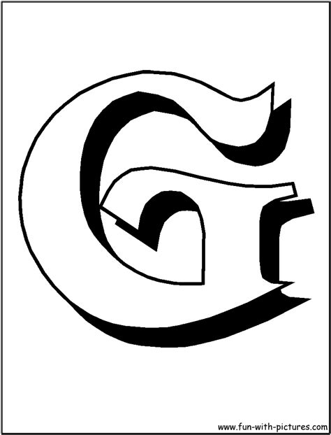 G Coloring Bubble Letter Pages Coloring Pages