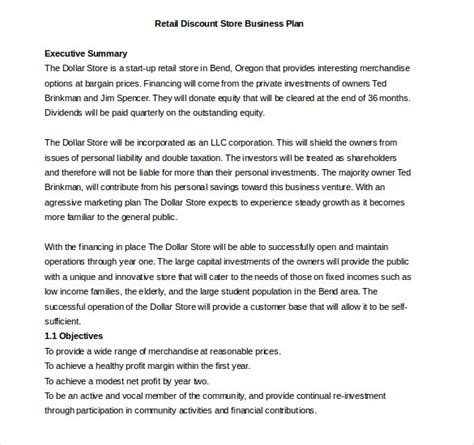 bookstore business plan template business template 39 free word pdf documents free premium templates