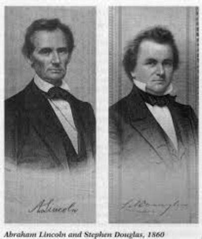 who won the lincoln douglas debates gonzalez civil war timeline timetoast timelines