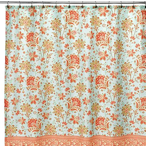 amy butler curtains amy butler bloom fabric shower curtain bed bath beyond