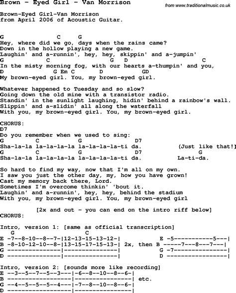ukulele tutorial brown eyed girl song brown by eyed girl by van morrison song lyric for