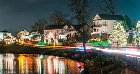 mcadenville christmas lights 2017 how mcadenville became christmas town usa our state magazine