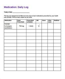 personal medication record template 28 free daily log templates