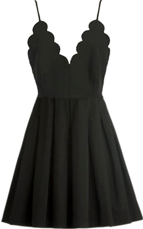 model moment dress black scalloped mini skater dresses