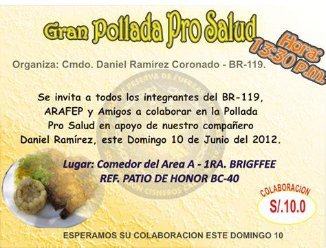 descargar modelo de tarjeta de pollada reserva activa domingo 10 de junio pollada pro salud
