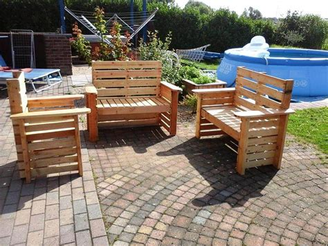 Wood Pallet Patio Furniture Diy Wooden Pallet Patio Furniture Set 101 Pallet Ideas