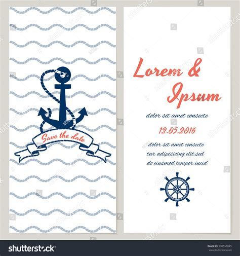 Wedding Invitation Template Nautical Choice Image Invitation Sle And Invitation Design Nautical Save The Date Template