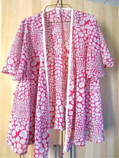 Kimono Pyjamas Pattern | m l pink wish pattern see through robe kimono cardigan
