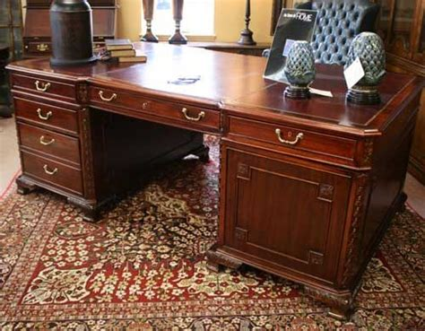 Furniture Consignment Gallery by 1950s Mahogany Partners Desk