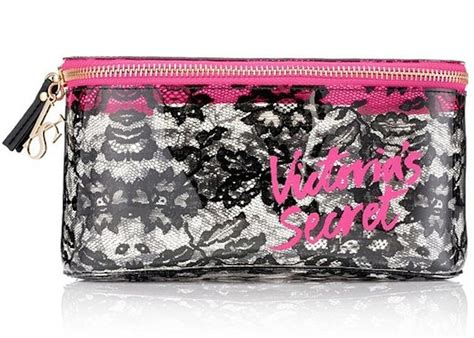 Secret Cosmetic Pouch 0024 new victoria s secret makeup bag cosmetic bag lace medium brand new discounted