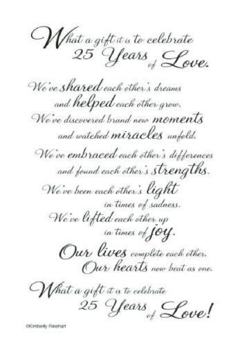 25th wedding anniversary card verses best 25 anniversary poems ideas on