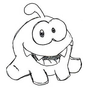 nom nom coloring pages how to draw om nom cu apps directories