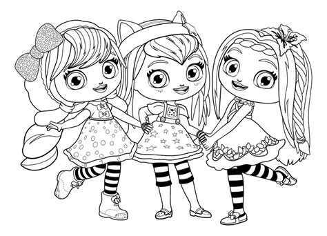 little charmers coloring pages nick jr little charmers group coloring sheet