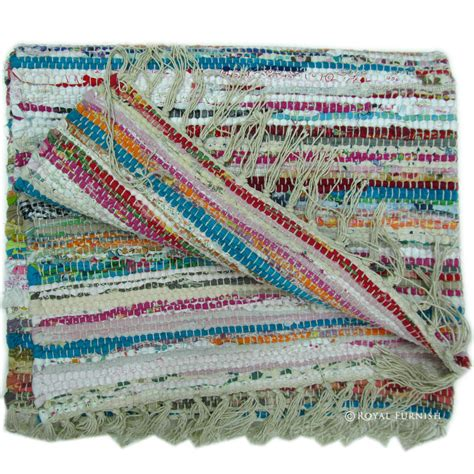 indian woven rugs indian woven recycled fabric chindi rag rug royalfurnish