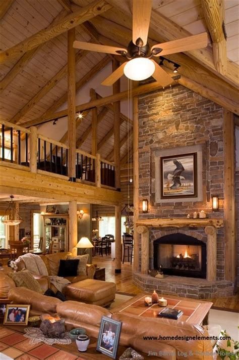 Log Home Lavely Traditional Living Room Other