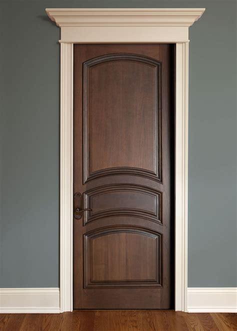 Interior Door Paint Finish Interior Door Custom Single Solid Wood With Walnut Finish Classic Model Dbi 611a Home