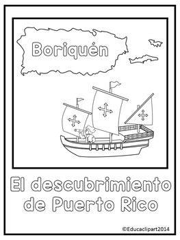 Descubrimiento De Puerto Rico Para Colorear | el descubrimiento de puerto rico colorear by