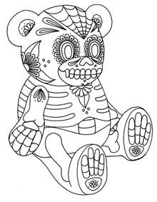 coloring pages for day free printable day of the dead coloring pages best