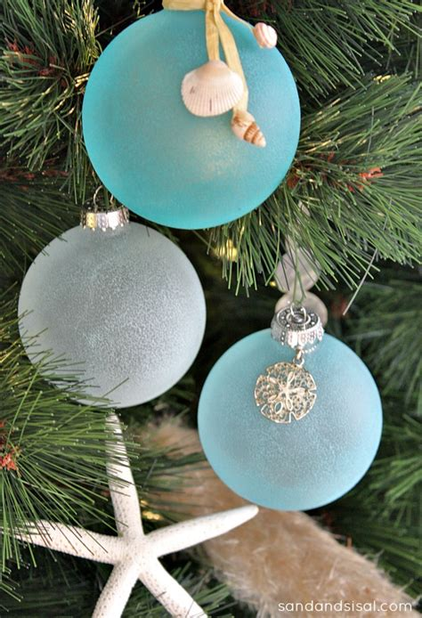 christmas home tour sea glass sisal and ornament