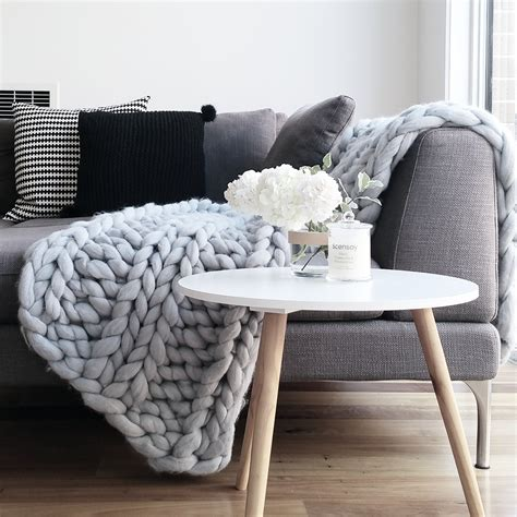 armchair throws light grey chunky knit throw blanket bed armchair or sofa
