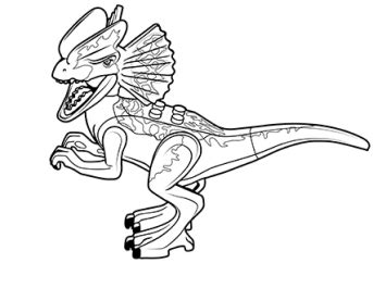 gambar jurassic world true bricks lego dilophosaurus