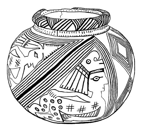 coloring earthen pots optimus 5 search image museum coloring pages