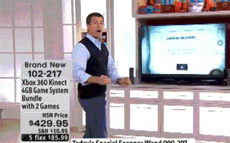 home shopping network pitches the kinect