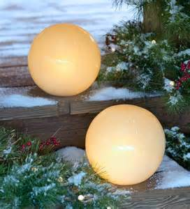Outdoor Globe Light Glowing Outdoor Globe With Auto Timer Lighting