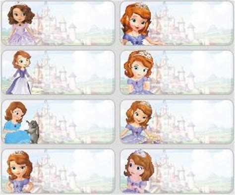 jual sticker medium name label stiker karakter the princess disney lucu