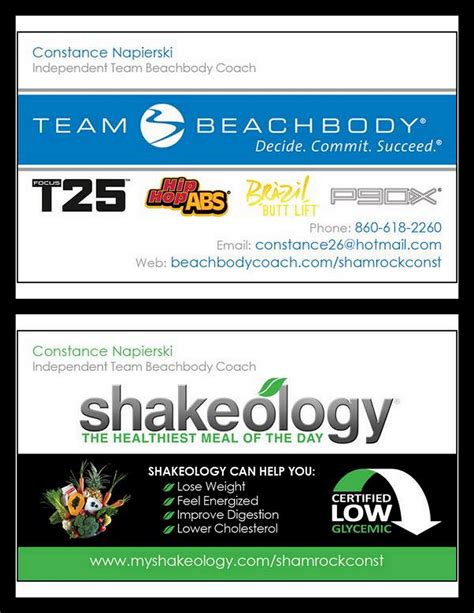 beachbody business cards templates beachbody business cards free resume sles writing