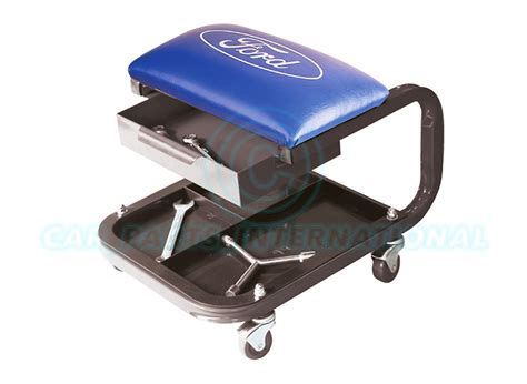 mechanics roller seat with drawers ford tools rectangle steel roller seat with tray drawer